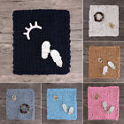 Soft Warm Hand Chunky Knitted Door Mat Sofa Blanket Sofa Bed Blanket Mat Baby image