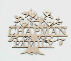 Personalised MDF Family Tree with Surname Craft Blank Shape Memory Box monogram