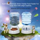 3.5L Automatic Dispenser Water Food Feeder For Dogs And Cats Large Capacity ND