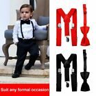 red bow tie for toddler - Suspender and Bow Tie Set for Baby Toddler Kids Boys Girls Children - USA ND