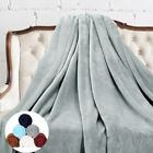 "Luxury Soft Flannel Plush Throw Blanket Wrinkle Resistant Anti-Fade 60"" X 80"" US image"