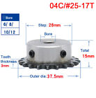 """#25 Chain Drive Sprocket Wheel 9-40T Bore 5-12mm Pitch 1/4"""" 6.35mm For 04C Chain"""