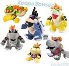 Super Mario Bros Stand Dark King Koopa Bowser Jr Plush Doll Baby Stuffed Toy US