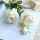 Roses Artificial Peony Fake Silk Flowers White Bridal Wedding Bouquet Home Decor