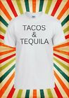 Tacos And Tequila Drunk Novelty Cool Men Women Vest Tank Top Unisex T Shirt 1413