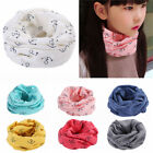Внешний вид - Boys Girls Toddler Kids Baby Cotton Neck Warmer Round Scarf Wrap Cute Multicolor