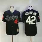 Brooklyn Dodgers #42 Jackie Robinson Cooperstown Jersey White/Black w/ Two Patch <br/> CHOOSE FROM VARIOUS COLORS/SIZE