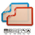 BBQ Silicone Baking Mat Cooking Mat Reusable Nonstick Sheet Oven Tray(Blue&Red)