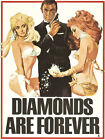 Diamonds Are Forever 2 Movie Poster Canvas Picture Art Print Premium A0 - A4 £14.49 GBP on eBay