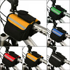 Bicycle Bag Double Pouch Cycling For Cell Phone Front Head Top Tube Bike Bags