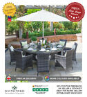 Nova Amelia 8 Seat Outdoor Garden Furniture 1.5m Round Rattan Patio Dining Set