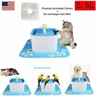 2.5L Automatic Cat Dog Pet Water Fountain Pet Drinking Bowl Dish Filter US Stock