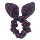 1PC Classic Check Plaid Bunny Ear Scrunchies Bow Hair Ties Ponytail Holder Bands