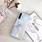 Plating Marble Phone case for Huawei P20 Lite Pro Ultra thin soft TPU Back Cover