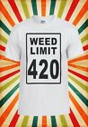 Weed Limit 420 Smoke Bong Cannabis Men Women Vest Tank Top Unisex T Shirt 1708