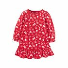 Just One You Carters Girl 12M 5T Christmas Nightgown Fleece Holiday RED Pajamas