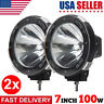2 PCS 7 inch 12V 100W WATT HID Driving Lights Lamp XENON Spotlights for Offroad