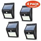 20-LED Solar Motion Sensor Light Infrared PIR Motion Sensor Mounted Wall Lamp