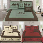 5 Piece Texas Rustic Rodeo Running Horse Star Western Quilt Bedspread Comforter! image