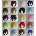 Multi Color Short Straight Hair Wig Anime Party Cosplay Full sell Wigs Cap Eager