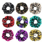 Two-Tone Sequin Hair Scrunchie Shiny Party Costume Accessory Multicolored Bands