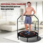 "Fitness Workout 40"" Mini Rebounder Folding Trampoline with Adjustable Handrail image"