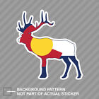 Colorado Deer Shaped Flag Sticker Decal Vinyl V2 CO stag hunting archery antlers