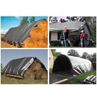 12 mil Heavy Duty Canopy Tarp SILVER 3pl Coated Tent Car Boat Cover - Free Ship