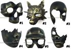 Hand cut Black Bronze Costume Prom Halloween Masquerade Skull Wolf Mask Party