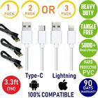 1,2,3X USB Cable DataSync/Charge For Iphone 7,8,X,Samsung,Motorola Moto Z Force