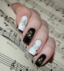 Adesivi per unghie ORO ARGENTO NOTE MUSICALI nail art MUSICAL NOTES stickers