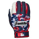 Franklin Sports Youth MLB Digitek USA Camo Batting Gloves White/Navy/Red Pair