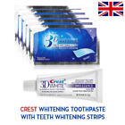 PROFESSIONAL ADVANCED TEETH WHITENING STRIPS + 3D ORAL B WHITE B TOOTHPASTE