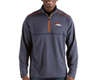 DENVER BRONCOS NFL ANTIGUA MENS PRODIGY 1/4 ZIP FLEECE PULLOVER SWEATSHIRT XL-2X on eBay
