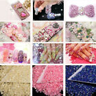 EE_ 1000Pcs 4mm Flatback Crystal AB 14 Facets Resin Round Rhinestone Beads Hot