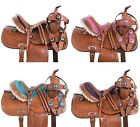 PINK TURQUOISE TAN WESTERN KIDS YOUTH CHILDREN PONY HORSE SADDLE TACK 10 12 13