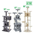 "52"" 80"" 67"" Cat Climb Tree Tower Condo Play House Pet Scratch Post Kitten 9 type"