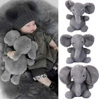 US Elephant Stuffed Animal Plush Toy Dolls for Kids Baby Bed Pillow Cushion