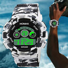 Fashion Men Camouflage Sports Backlight Alarm Date Week Digital Wrist Watch Soft image