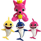 UK Cartoon Pink Fong Fox Sharks Dolls Plush Children Kids Animal Toys Xmas Gift