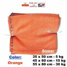 SACK BAG RASCHEL NET MESH ORANGE FRUITS VEGETABLES WOOD LOGS CARROT ONIONS POTAT
