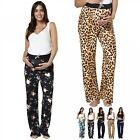 Zeta Ville Women's Maternity Wide Legs Pyjama Pants AVAILABLE 3 LEG LENGTHS 630p