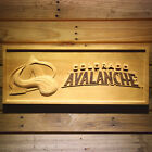 Colorado Avalanche NHL Wooden Sign 3D Sculpture Engraved Pine Wood Ice Hockey
