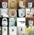 Toilet Seats Art Wall Sticker Quote Bathroom Decoration Art Decal Home Decor New