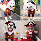 Pet Dog Cat Pumpkin Pirate Costumes Party Costume Clothes Halloween Jacket Dress