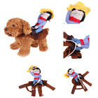 Puppy Cowboy Rider Dog Pet Costume Hat Clothes for Dogs Outfit Knight Halloween