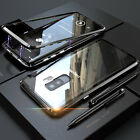 For Samsung Note 9 Case Magnetic Slim Metal Bumper Glass Back Phone Cover S9 S8