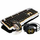 Rainbow Backlight Usb Ergonomic Gaming Keyboard and Mouse Set for PC Laptop