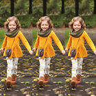 USA Child Toddler Kids Girls Outfits Clothes Long Sleeve T s