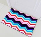 71'' Waterproof Shower Curtains Fabric Set Fashion Colored Striped Zigzag Design